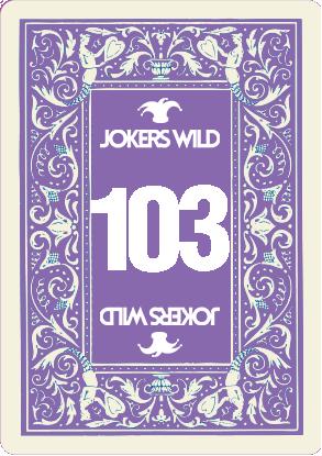 Buy a Jokers Wild Live raffle ticket today! Jokers Wild Card 103