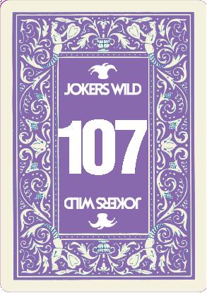 Buy a Jokers Wild Live raffle ticket today! Jokers Wild Card 107