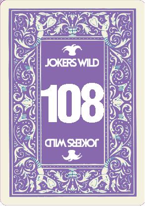 Buy a Jokers Wild Live raffle ticket today! Jokers Wild Card 108