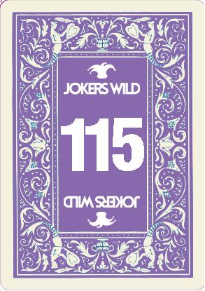 Buy a Jokers Wild Live raffle ticket today! Jokers Wild Card 115