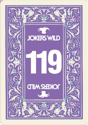 Buy a Jokers Wild Live raffle ticket today! Jokers Wild Card 119