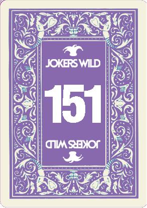 Buy a Jokers Wild raffle ticket today! Jokers Wild Card 151