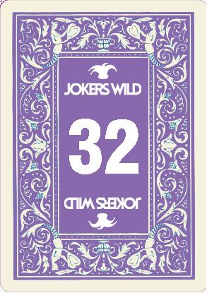 Jokers Wild Raffle Card 32
