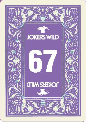 Jokers Wild Raffle Card 67