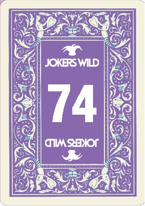 Buy a Jokers Wild Louisville raffle ticket today! Jokers Wild Raffle Card 74