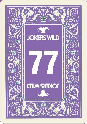 Jokers Wild Raffle Card 77